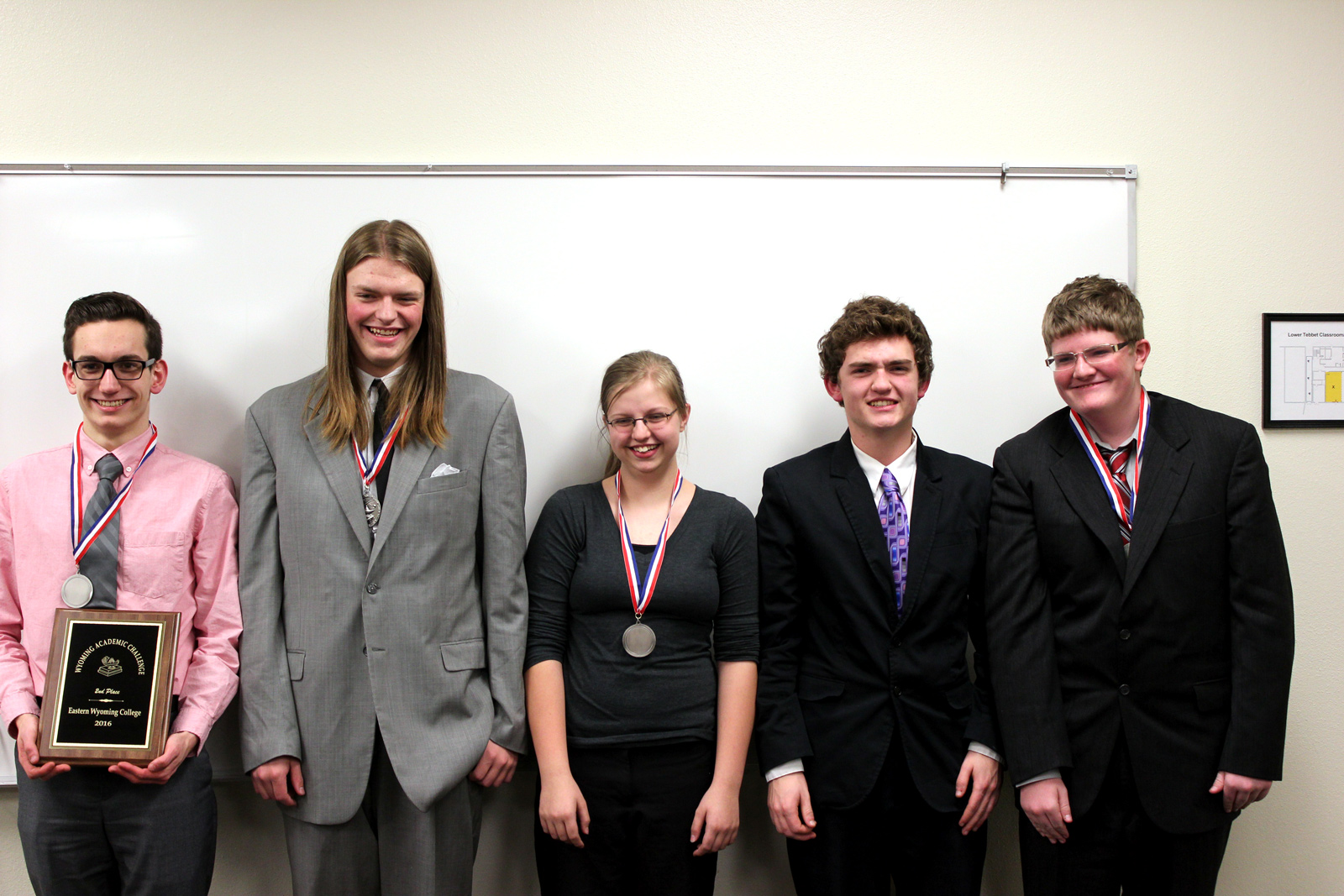Sheridan High School placed 3rd at the Wyoming Academic Challenge held at EWC