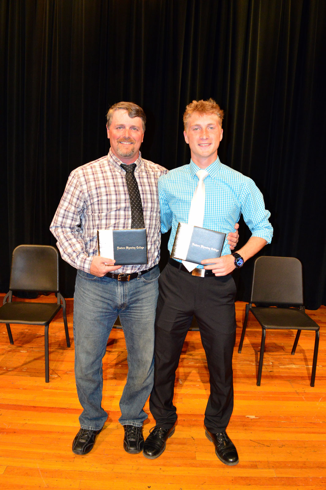 James – Marshall: James and Marshall Rhoades, father and son, receive their Associate degrees together.