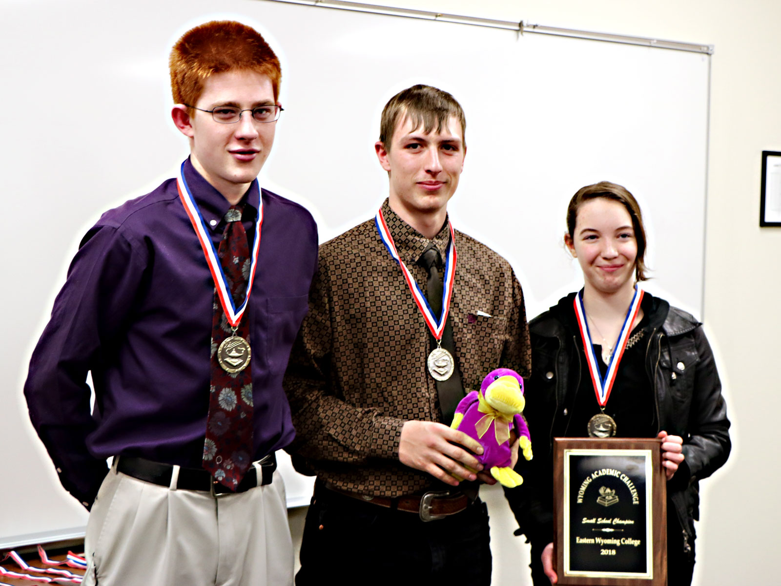 Riverside High School team 1 placed 3rd and won the Small School at the Wyoming Academic Challenge held at EWC