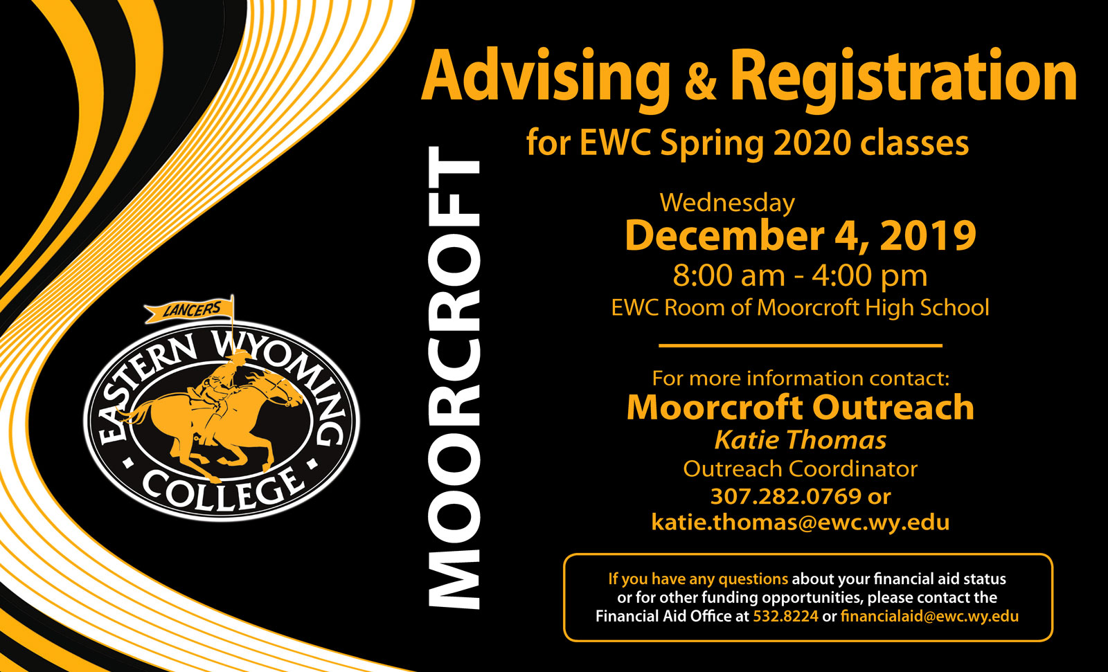 Advising & Registration for EWC Spring 2020 classes
